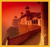 Le fort rouge à Agra dans l'uttar Pradesh en Inde