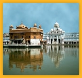 Golden temple gatewa of India