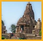 Sculptures inde temple à Khajuraho Madhya Pradesh