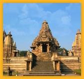 Temples khajuraho, en Inde Madhya Pradesh
