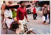 Voyage en Inde, découverte des quartiers de Delhi en Rickshaw